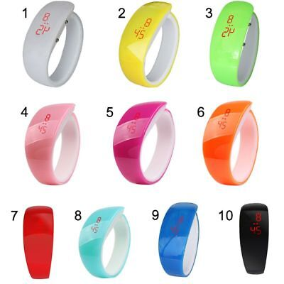 LED Silikon Armbanduhr Uhr Armband Sportuhr Touch Screen Digitaluhr Kinderuhr