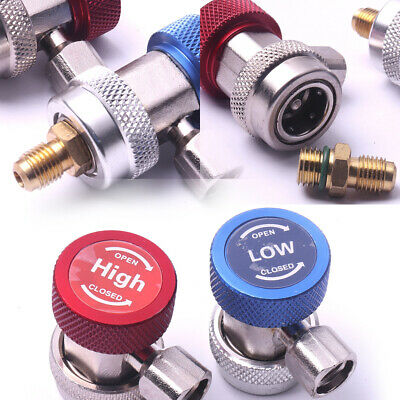 High & Low R134A Adapters Quick Coupler Joint A/C Air Condition Manifold Auto