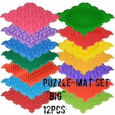 Feet Puzzle 12 Pcs Orthopedic massage floor mats First steps (carpet) for Baby