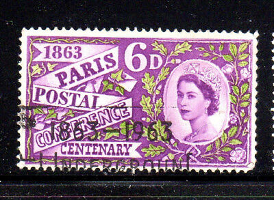 GREAT BRITAIN #392  1963  PARIS POSTAL CONFERENCE         F-VF  USED  a