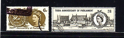 GREAT BRITAIN #422-423  1965 700TH ANNIV. OF PARLIMENT  F-VF USED  b