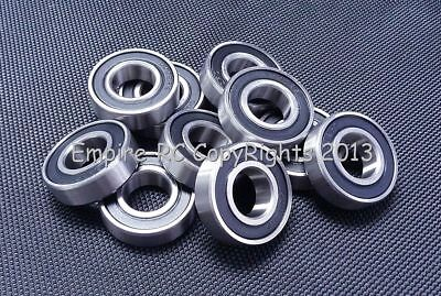 (4 PCS) S6000-2RS (10x26x8 mm) 440c Stainless Steel Rubber Sealed Ball Bearings