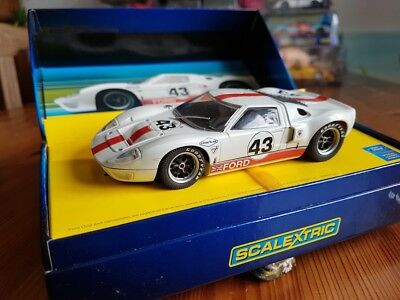 Scalextric Ford GT40, 1966 White #43, 1:32, OVP
