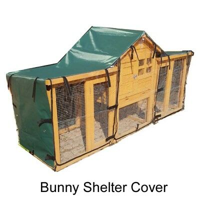 Bunny Shelter Rain Cover For Rabbit Hutch Run Covers Pet Hutches Ferret Cages