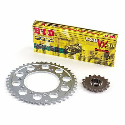 D.I.D X-Ring Gold Chain/Sprocket Kit For Suzuki 2007 GSF1250S Bandit K7 (3603539