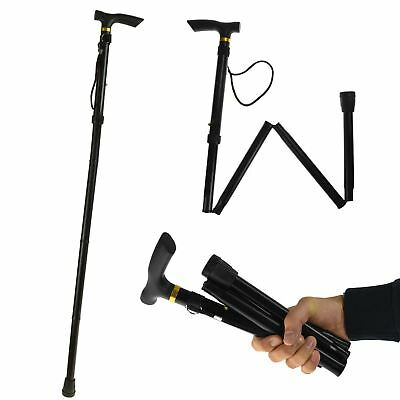 New Mobility Aid Folding Aluminium Adjustable Height Walking Stick