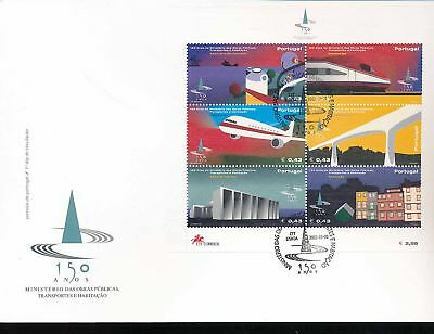 180189 / Portugal FDC Block 179 Transport Verkehr