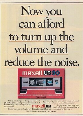 MAXELL - Magazine advert from 1986 for : MAXELL UR90 TAPE - vgc -