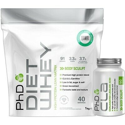 PhD Diet Whey 1KG + CLA 90 Caps Weight Loss Lean Management Meal Replacement