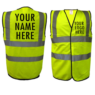 Personalised Hi Vis Work Vest, Work, Safety, Waistcoat