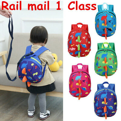 Safety Harness Strap Baby Kid Toddler Walking Backpack Reins Bag Dinosaur