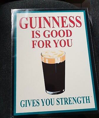 Guinness Is  Good  For  You  Gives  You  Strength    Metal  Sign  New