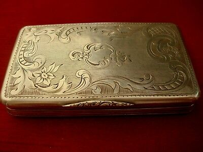 A Fine Antique Continental French ?  Solid Silver  Hallmarked  Snuff Box