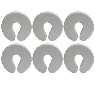 White Child Safety Foam Door Stoppers -- (6 Pack) -- Finger Pinch Child Safety
