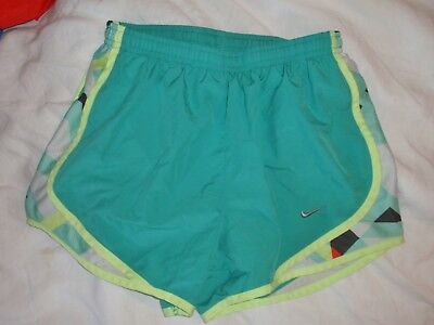 Womens XS X-Small Nike Dri Fit Tempo Green Brief Lined Athletic Running Shorts