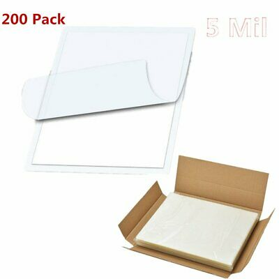 200 Clear Letter Size Thermal Laminating Pouches 9 X 11.5 inch Sheets 5 Mil