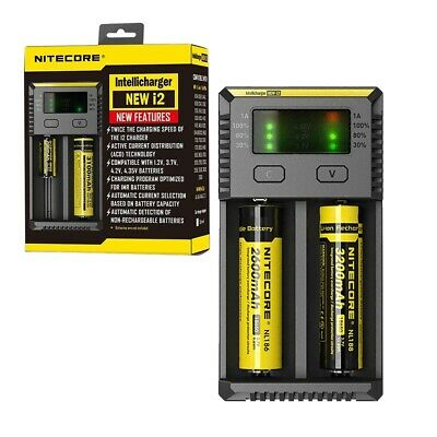 Nitecore I2 - Intelligent 18650 26650 AA AAA Vape Battery Charger