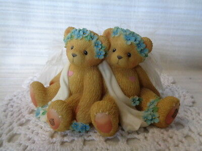 Cherished Teddies  Figurine~ Chantel and Fawn~We're Kindred Spirits 1999 ANGELS