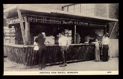 Postcard : Minnesota - Bemidju Mn - Photo-Chrome Russell's Ice Cream