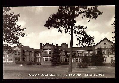 Postcard : Minnesota - Walker Mn - Rppc State Sanitorium Real Photo