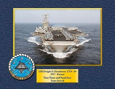 USS Dwight D. Eisenhower CVN 69 Custom Personalized Print of US Navy Ships Gift