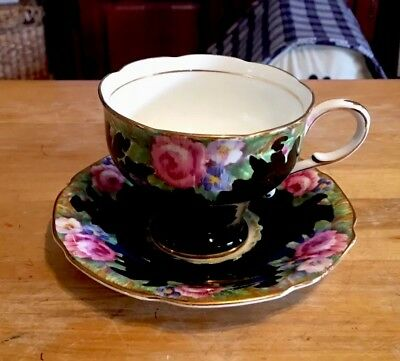 Vintage Paragon China Tapestry Rose Cup And Saucer