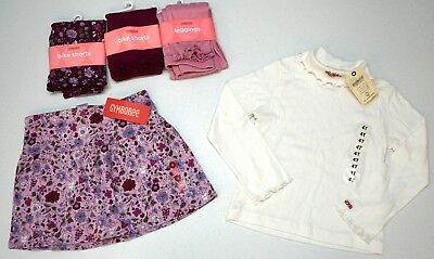 NWT LOT 5 ITEMS Gymboree Oshkosh Girls 4 Pink Purple Skirt Leggings Shorts NEW
