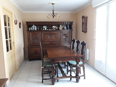 Meuble Salle A Manger Complete Buffet Table Chaises Style Breton