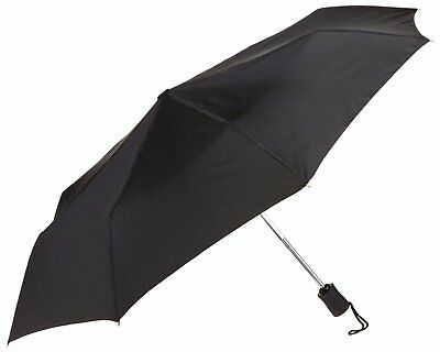 "Small Compact Tote folding Rain Umbrella opens 42"" - (Black)"