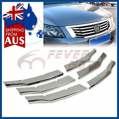 AU 6Pcs Chrome Center Grille Insert Cover Fit For Honda Accord Sedan 08 09 10 FM