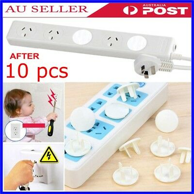 10 Pcs Baby Child Safety Power Board Socket Outlet Point Plug Protective Covers