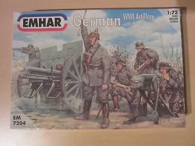 TOP!!! EMHAR EM7204 German WWI Artillery with 96n/A 76mm gun + 24 Figuren 1:72