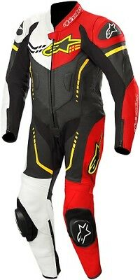 Alpinestars Youth GP Plus Cup Leather Racing Suit Black/White/Red/Yellow