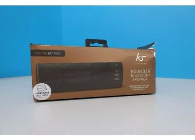 KitSound BoomBar Rechargeable Stereo Bluetooth Speaker - Black (459945)