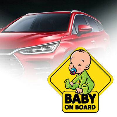 CO_ BABY ON BOARD Car Body Window Reflective Sticker Warning Sign Decoration Coo