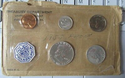 1955 Proof Set In Original Envelope~Silver~
