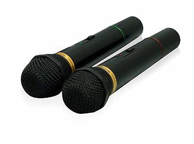 QFX M-336 Wireless Dynamic Professional Microphone - Twin Pack