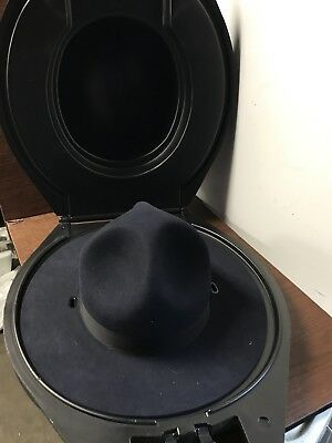 State Police Beaver Quality Campaign Hat Ranger Trooper Sz 7-1/4 With Hard Case