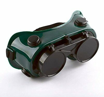 Welding Goggles Dark Lens Flip-up Green Filter Poly-carbonated Lens by Unique...