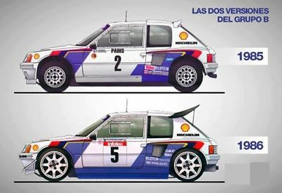A3 Peugeot 206 Group B Evolution Poster Art Picture Print