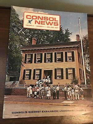 Consol News Consolidated Coal Magazine 1967 Hanna Mitchell Power Plant Kammer