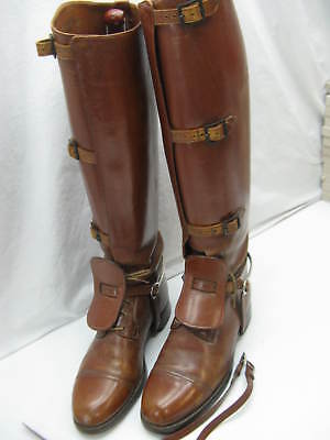 1930's Vintage Dehner Boot Company Men's Military Cavalry Riding Boots w/ Spurs