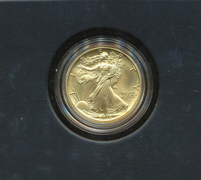 2016 W GOLD Centennial Walking Liberty Half dollar in OGP .9999 1/2 oz 24kt
