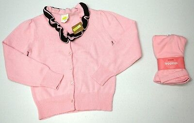 NWT LOT 2 Gymboree Crazy 8 Girls Size 10-12 Pink Leggings Sweater Cardigan NEW