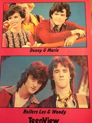 Donny, Marie Osmond, Osmonds Brothers, Bay City Rollers, Full Page Vintage Pinup