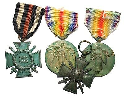 Original WWI US, French & German Medals