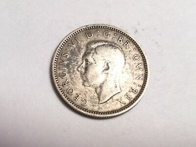 GREAT BRITAIN 1943 sixpence small silver coin nice condition