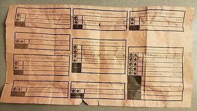 Antique Paper Ballot Political Election 1915 Town of RUSSELL New York ORIGINAL