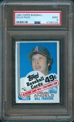 1982 Topps BASEBALL CARD Original Unopened CELLO Pack PSA 9 Mint