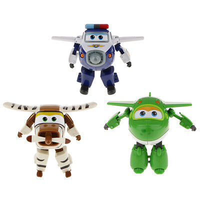 3pcs Toy Characters Superr Wings Miro Bello Paul Transforming Robot Toy Gift